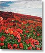 Poppies Impression Metal Print