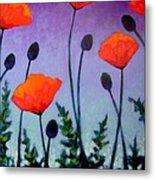 Poppies In The Sky II Metal Print