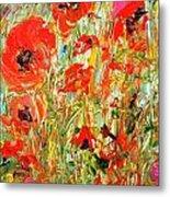 Poppies In The Sun Metal Print by Barbara Pirkle