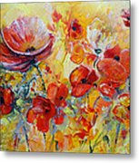 Poppies On Fire Metal Print