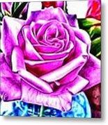 Poppin Purple Rose Metal Print