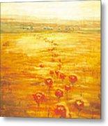 Poppy Fields Forever Metal Print