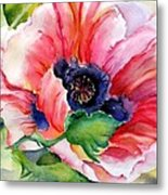 Poppy In The Pink Metal Print