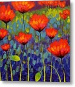 Poppy Meadow   Cropped 2 Metal Print