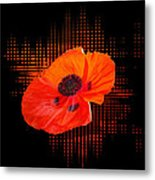 Poppy Passion Square Metal Print