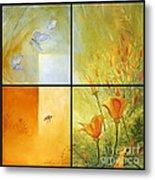 Poppy Pollination Metal Print