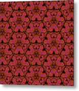 Poppy Sierpinski Triangle Fractal Metal Print