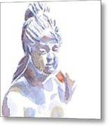 Porcelain Maiden In Watercolor Metal Print by Kip DeVore