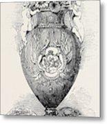 Porcelain Vase, Manufactured At Coalbrooke Dale Metal Print