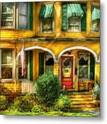 Porch - Cranford Nj - A Yellow Classic  Metal Print