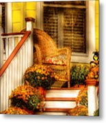 Porch - In The Light Of Autumn Metal Print