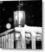 Porch Light Bw Metal Print