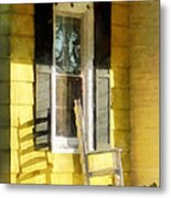 Porch - Long Afternoon Shadow Of Rocking Chair Metal Print