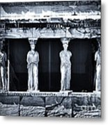Porch Of The Caryatids Metal Print by John Rizzuto
