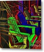 Neon Porch Perches Metal Print