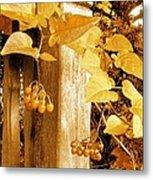 Porch Post Berries Glow Metal Print