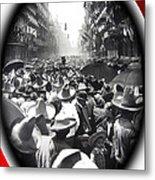 Porfirio Diaz Celebrating Republican President Benito Juarez July 1910 April 25 1911   Metal Print