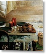 Pork With Candles Metal Print
