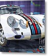 Porsche 356 Martini Racing Metal Print