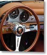 Porsche 356b Super 90 Interior Metal Print