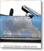 Porsche 911 Cab Elvington Clouds Metal Print