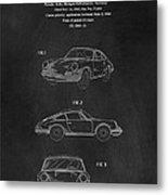 Porsche 911 Carrera 1964 Patent Art  Metal Print