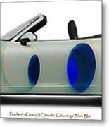 Porsche 911 Colourscape Sivler-blu Metal Print