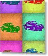 Porsche 911 Pop Art 2 Metal Print by Naxart Studio