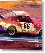 Porsche 911 Racing Metal Print