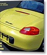 Porsche Boxster Posterior Metal Print