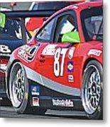 Porsche Gt In Traffic Metal Print