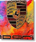 Porsche In Abstract Metal Print
