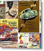 Porsche Racing Posters Collage Metal Print by Don Struke