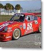 Porsche Rsr Race Car At Sebring Metal Print