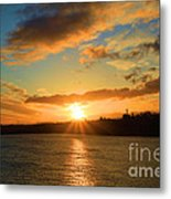 Port Angeles Sunburst Metal Print