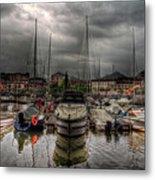 Port At Como Lake Metal Print