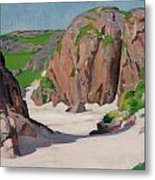 Port Bhan  Iona Metal Print by Francis Campbell Boileau Cadell