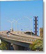 Port Boulevard Bridge Miami Metal Print
