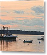 Port Clyde Maine Fishing Boats At Sunset Metal Print