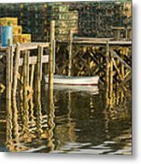Port Clyde Maine Small Boat And Harbor Metal Print