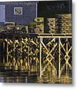 Port Clyde Pier On The Coast Of Maine Metal Print