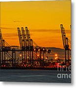 Port Of Felixstowe Metal Print by Svetlana Sewell