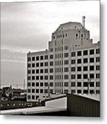Port Of Galveston Building In B And W Metal Print