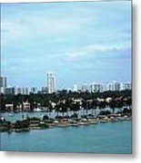 Port Of Miami Metal Print