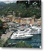 Port Of Portofino Metal Print
