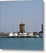 Port Of The Myloi - Rhodos City Metal Print