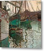 Port Of Trieste Metal Print by Egon Schiele