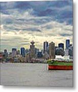 Port Of Vancouver Bc Panorama Metal Print