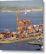 Port Of Vancouver Panorama Metal Print