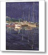 Stary  Port Orchard Night Metal Print